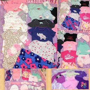 💗 34 Piece Newborn Baby Girl Clothes Lot 💗